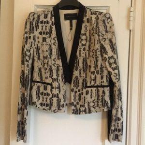 BCBG Max Azria Black and White Ikat blazer